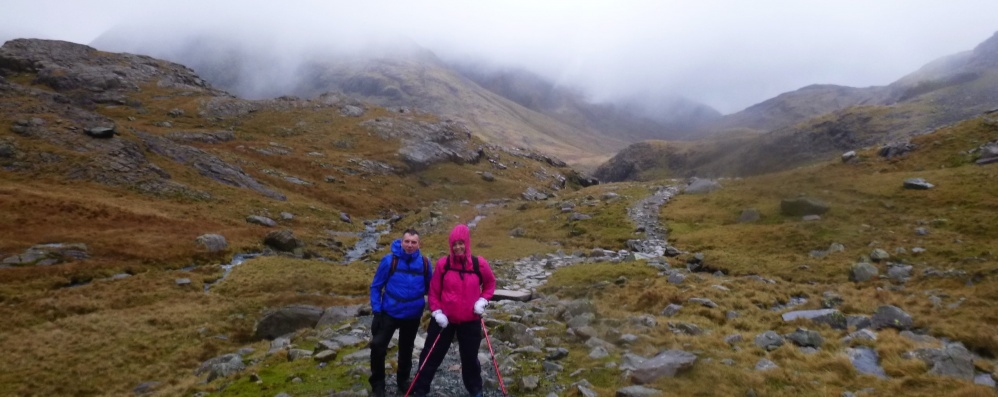 Guided Walking in The Lake District. An ascent of Scafell Pike. Saturday, 12th January 2019