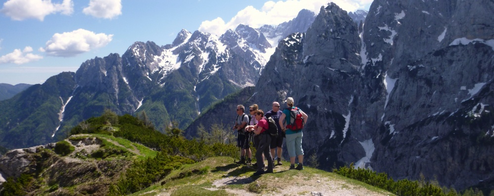 A unique opportunity to join our guided walking week in the Julian Alps of Slovenia for only £600 per person. June 30th to July 7th, 2018.