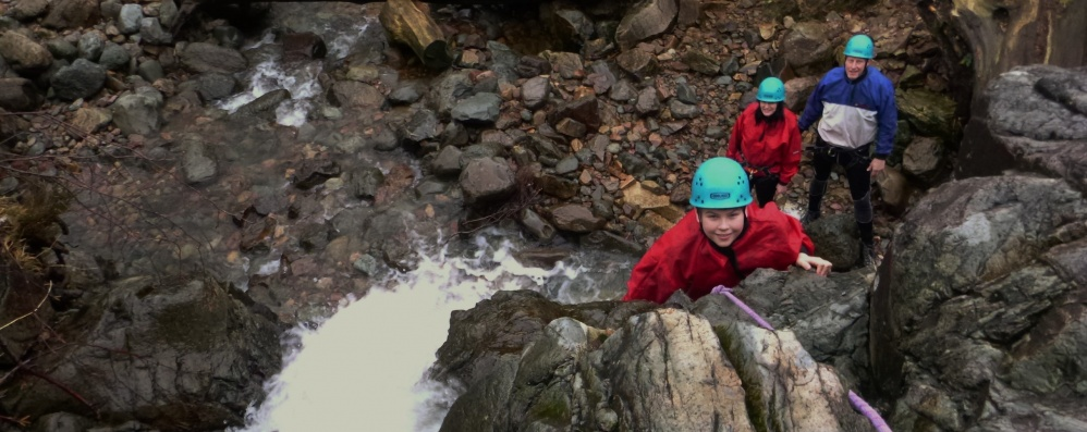 New Year Ghyll Scrambling Sessions in The Lake District. December 30th 2018.