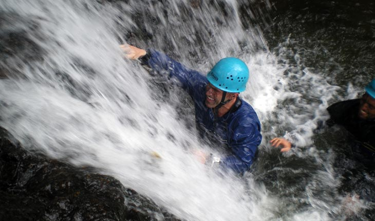 Ghyl Scrambling in the Lake District
