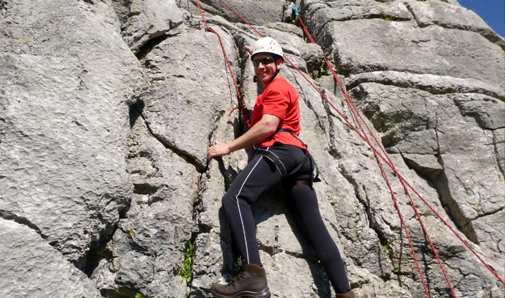 Rock climbing in the Lake District, Cumbria