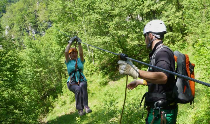 Activities in Slovenia Zip Wire